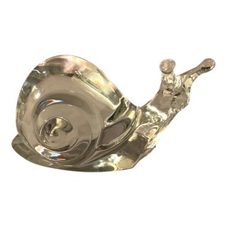 French Baccarat Crystal Snail Shell