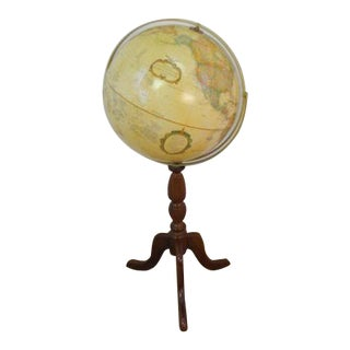 Decorator Globe & Wood Turned Stand