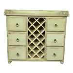 Image of Crate & Barrel Rustic Wine Rack Cabinet