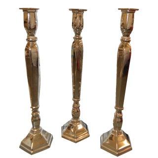 Chrome Candlesticks - Set of 3