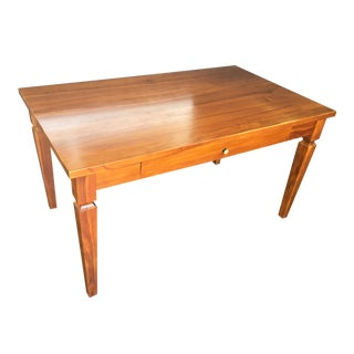 Crate & Barrel Campaign Style Cherry Writing Desk