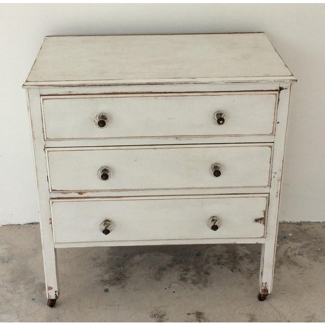 Image of White Shabby Chic 3-Drawer Dresser