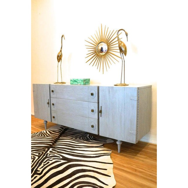 American of Martinsville Gray Credenza Cabinet - Image 4 of 5