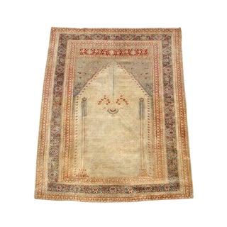Luscious All Silk Perisan Tabriz Prayer Rug