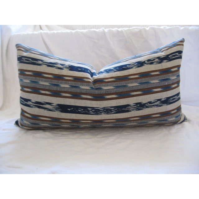 Hand-Loomed Ikat Lumbar Pillow - Image 2 of 4