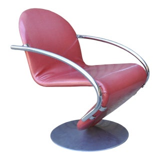 Vintage Mid Century Modern Verner Panton Fritz Hansen 1-2-3 System Chair Pink