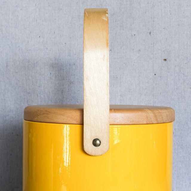 Georges Briard Yellow Ice Bucket - Image 5 of 9