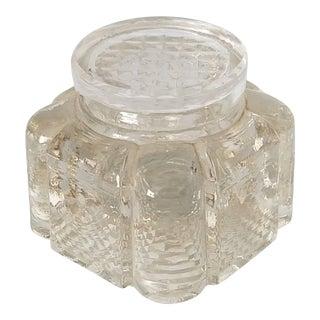 Vintage Lidded Glass Inkwell