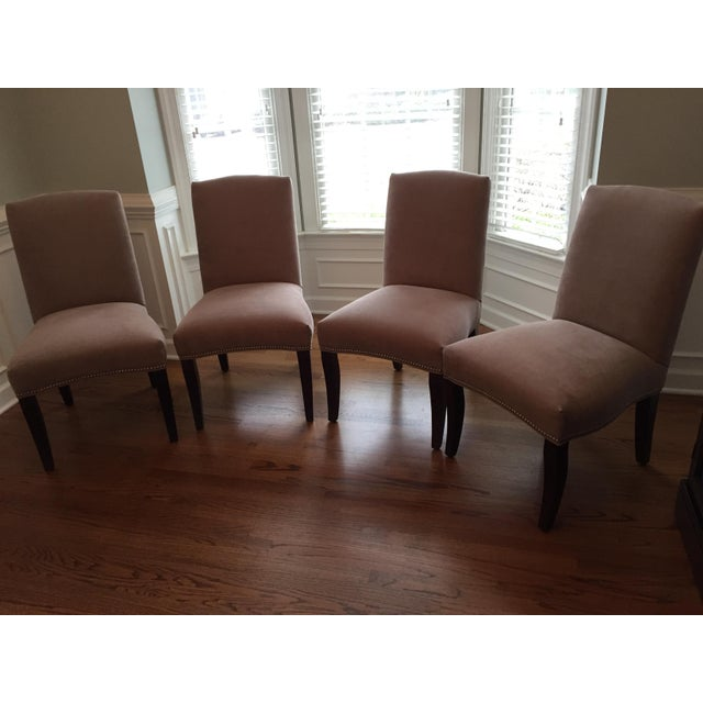 Lee Industries Upholstered Dining Chairs With Accent Fabric on Back - Set of 4 - Image 11 of 12