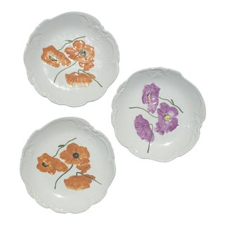 Hand Painted S.C. Richard Salad Plates - Set of 3