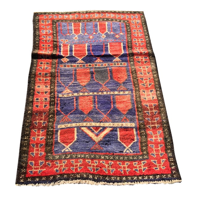 "Vintage Persian Mehebad Small Area Rug - 2'7""x4'3"" - Image 1 of 9"