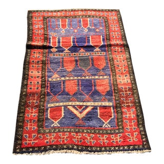 "Vintage Persian Mehebad Small Area Rug - 2'7""x4'3"""