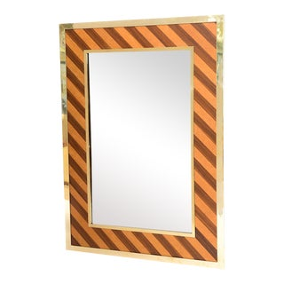 Brass-Framed Mirror