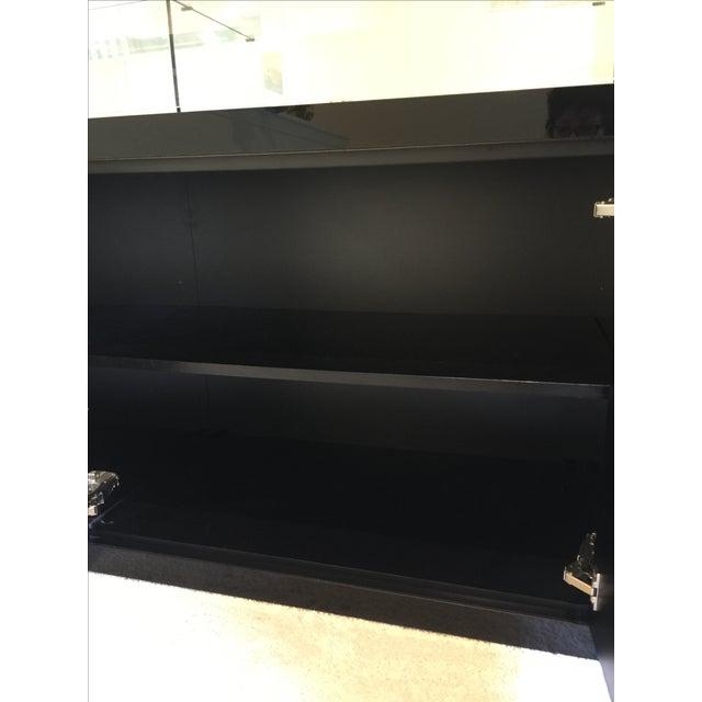 Image of Ello Black Glass Curio Cabinet Desk