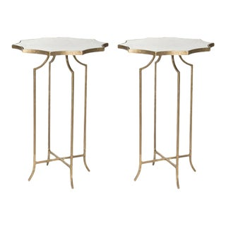Charming Pair of Diminutive Drinks Tables in the Style of Maison Baguès