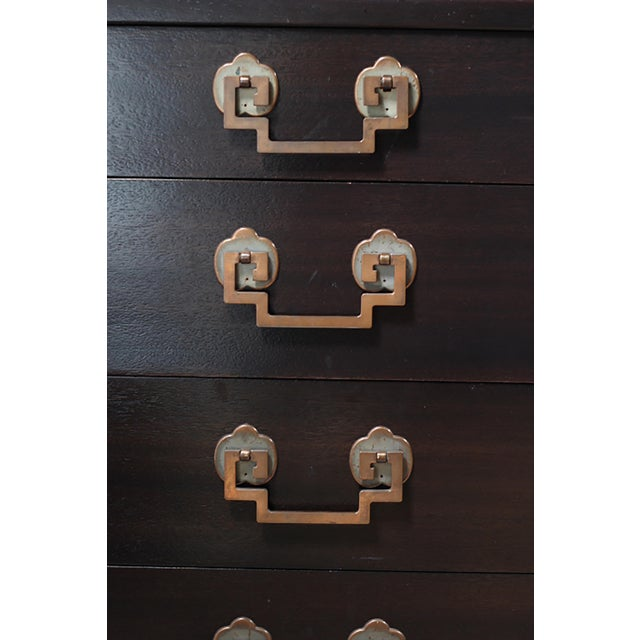 Landstrom Furniture Ribbon-Mahogany & Brass 8-Drawer Dresser - Image 2 of 8