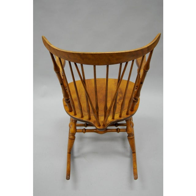 Colonial Traditional Vtg Nichols & Stone Maple Wood Windsor Rocking Chair Rocker - Image 9 of 11