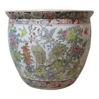 Large Chinoiserie Style Maitland Smith Porcelain Planter