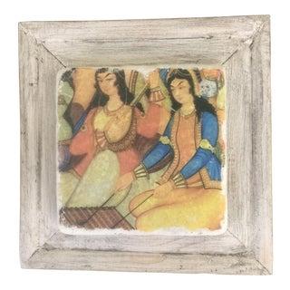 Handmade Framed Ottoman Musician Women Print