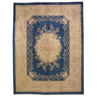 1930s Antique Chinese Art Deco Hand Made Rug- 8′10″ × 11′7″