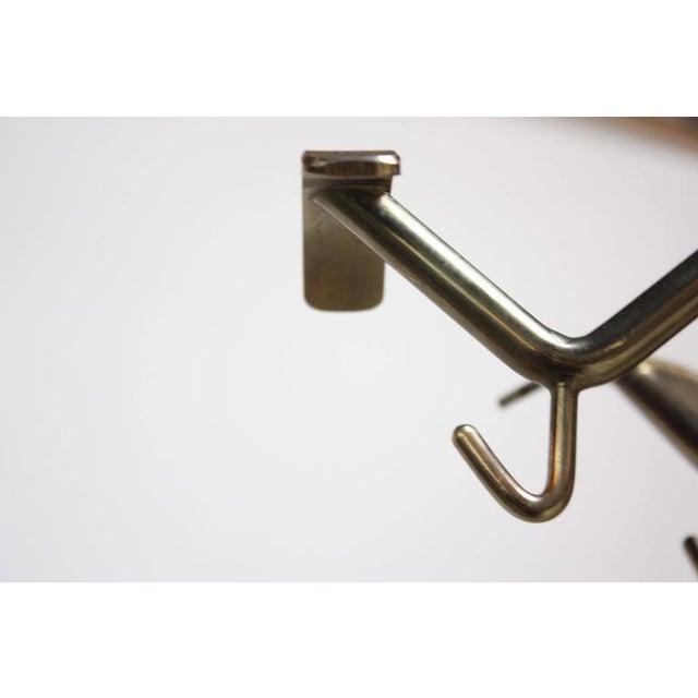 Mid-Century Italian Modern Brass Swivelling Coat Rack - Image 10 of 11