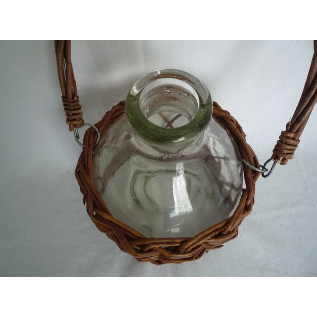 Vintage Demijohn in Basket - Image 4 of 5