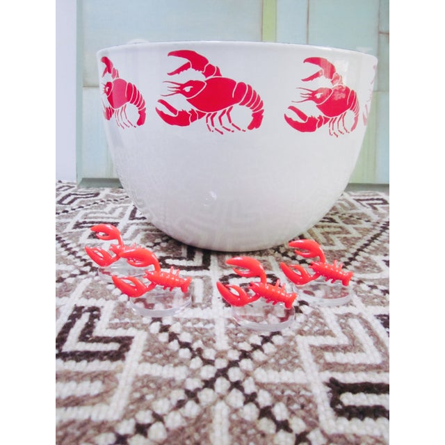 Lobster Lucite Place Card Holders - Set of 4 - Image 4 of 7