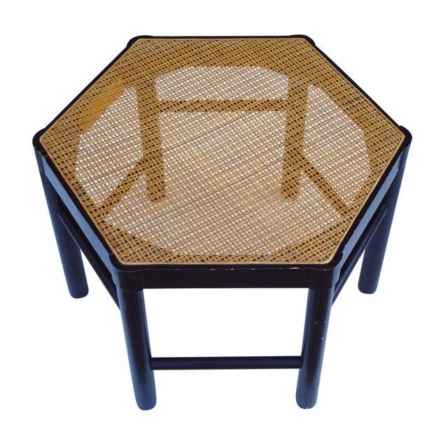 Josef Hoffmann Style Hexagonal Chair & Ottoman Set - Image 4 of 10