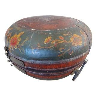 Tibetan Round Wood Box
