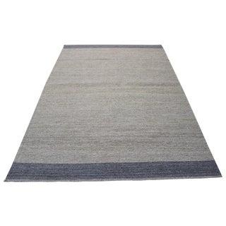 "Natural Wool Turkish Kilim Rug - 4'6"" x 6'6"""