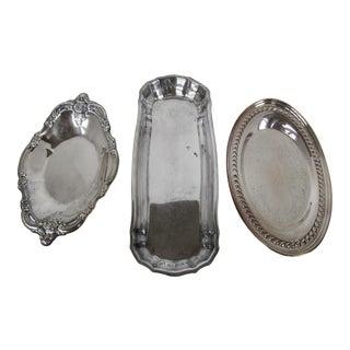 Vintage Silver-Plate Serving Dishes - Set of 3