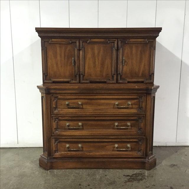 Vintage Walnut Highboy Dresser - Image 2 of 7