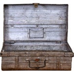 Image of 1950s Blushed Gray Iron Traveler's Trunk