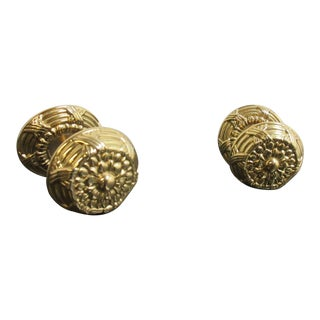 Vintage Solid Brass French Regency Dresser Drawer Pulls - A Pair