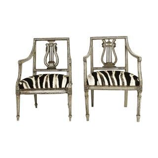 19th Century Italian Neoclassical Chairs - Pair