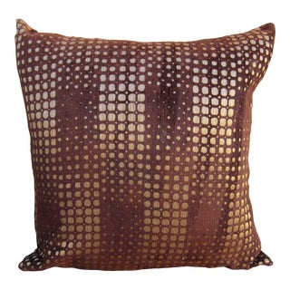 Gold and Brown Patterned Pillow