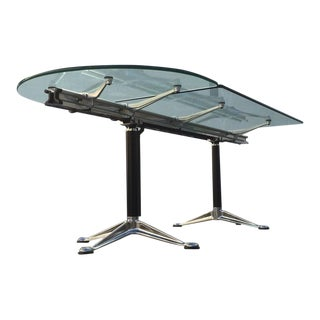 Glass and Aluminum Table Designed by Bruce Burdick for Herman Miller