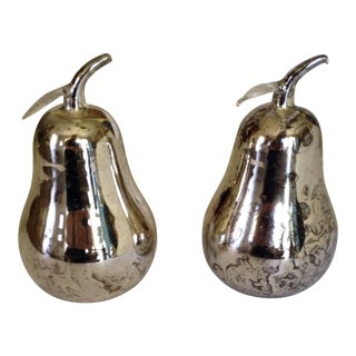 Mercury Glass Pears - Pair