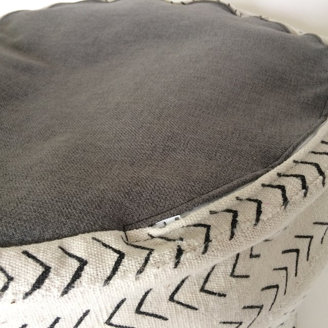 Black and White Mud-Cloth Floor Pillow - Image 6 of 7
