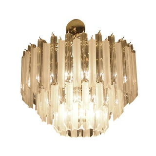 3 Tiered Lucite Prism Chandelier