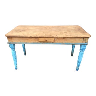 Antique American Pine Farm Table
