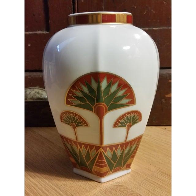 Signed Gail Levites Lotus Porcelain Vase Made in Japan - Image 3 of 6
