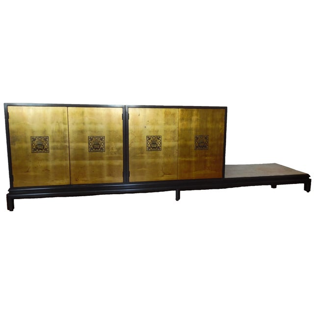 Renzo Rutili Chinoiserie Gold Cabinet - Image 1 of 10