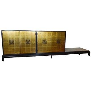 Renzo Rutili Chinoiserie Gold Cabinet