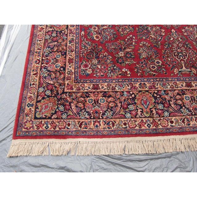 Karastan Red Sarouk Pattern - 8′9″ × 12′ - Image 4 of 8