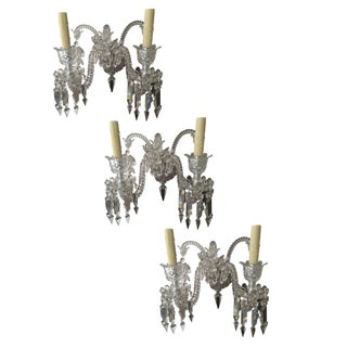 5 Arm Baccarat Sconces - Set of 3