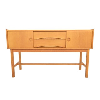 Danish Modern Sliding Door Entry Chest in Oak