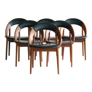 Vintage Arne Hovmand-Olsen Dining Chairs - Set of 6