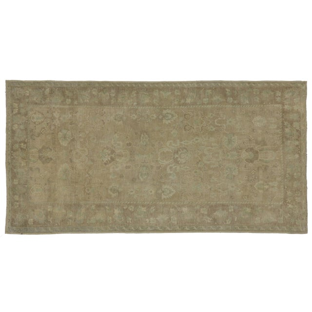 "Vintage Turkish Oushak Gallery Rug - 5'4"" x 10'4"" - Image 1 of 5"