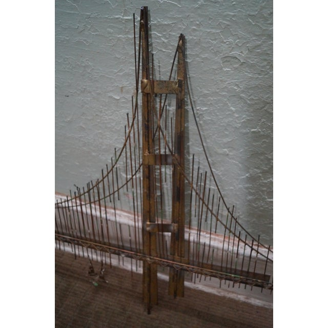 c jere golden gate bridge metal wall sculpture chairish. Black Bedroom Furniture Sets. Home Design Ideas